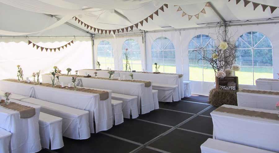 Privatfeier hochzeit zelte und leichtbauhallen von leube for Festzelt dekoration