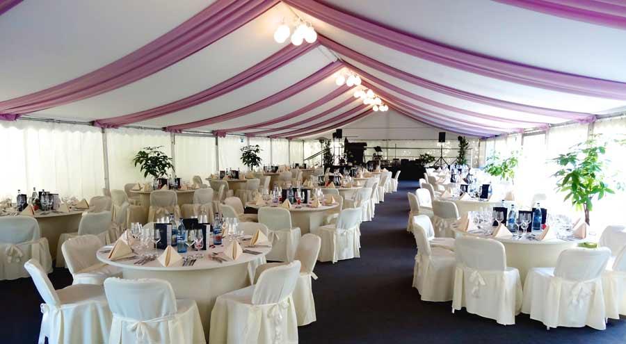 Zelte und leichtbauhallen von leube dekoration dach wand for Wohnung dekorieren nach hochzeit