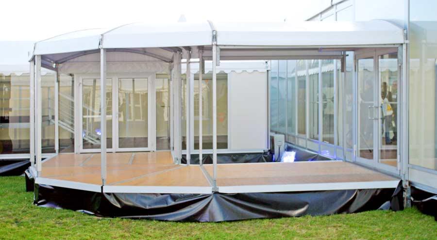 Zelte und Leichtbauhallen von LeuBe Walkwayzelte